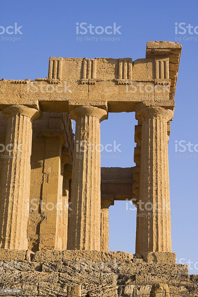 greek temple royalty-free stock photo