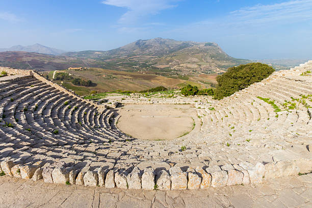 Griechische Theater Segesta Sizilien, Italien – Foto