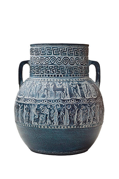 greek vase isolated on white stock photo