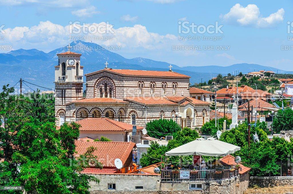 Greek village near Ancient Corinth royalty-free stock photo