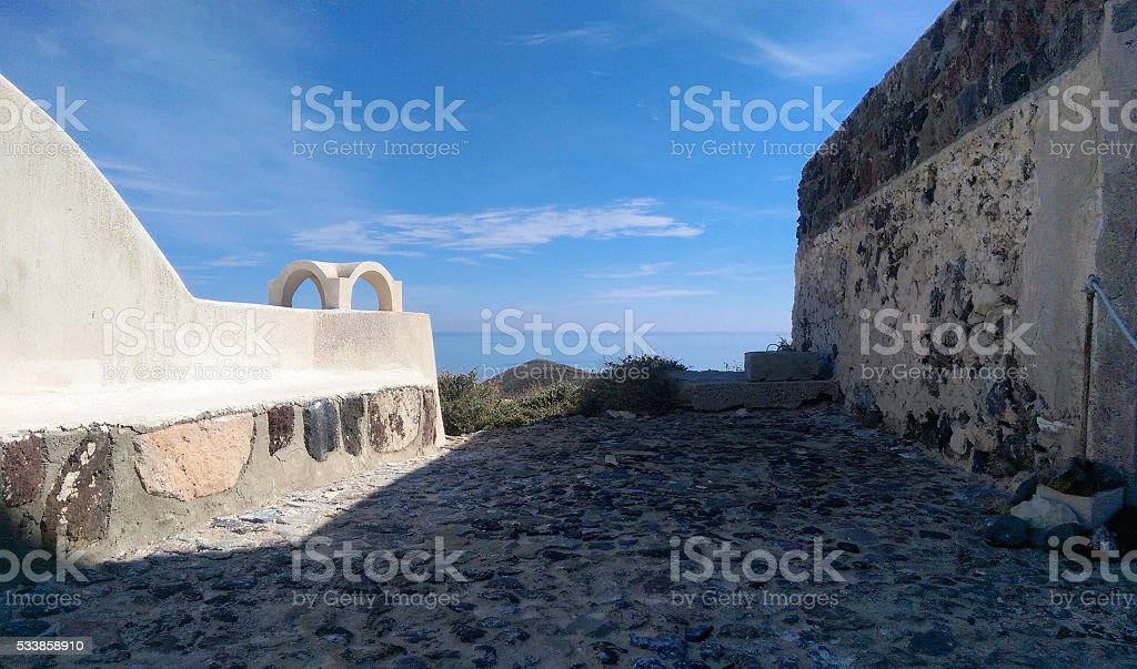 Greek Walkway Stock Photo More Pictures Of Aegean Sea Istock