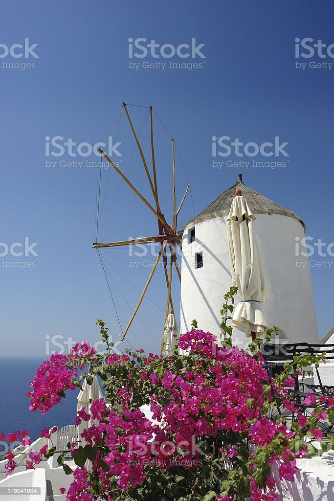 Greek Windmill royalty-free stock photo