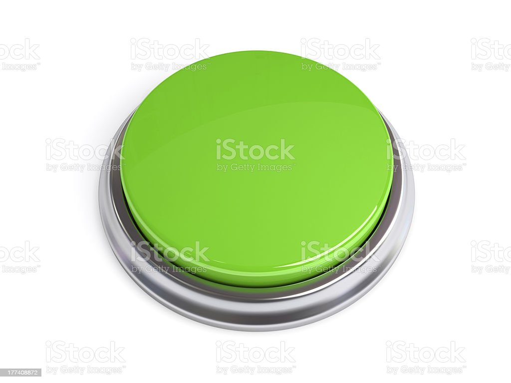 Green 3D Button Isolated royalty-free stock photo