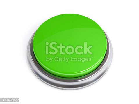 istock Green 3D Button Isolated 177408872