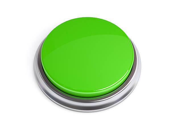 Botón 3D aislado verde - foto de stock