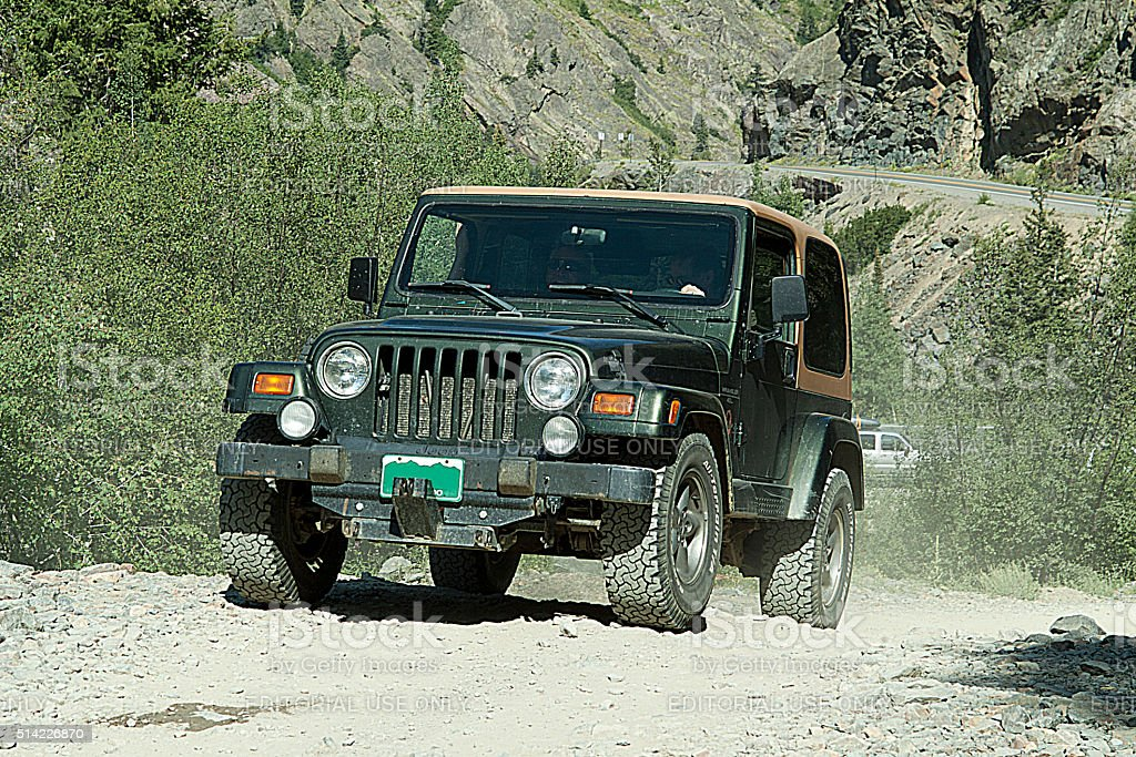 Green 4WD stock photo