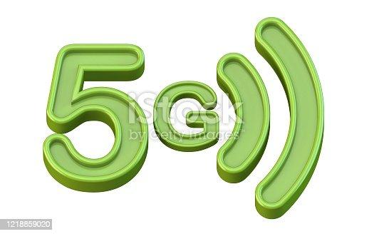 istock Green 5G icon 3D 1218859020