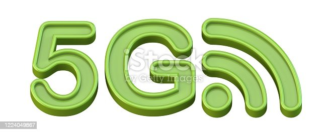 1152653473 istock photo Green 5G icon 3D 1224049867