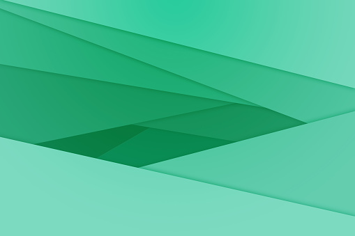 istock Green Abstract Line background 687162420
