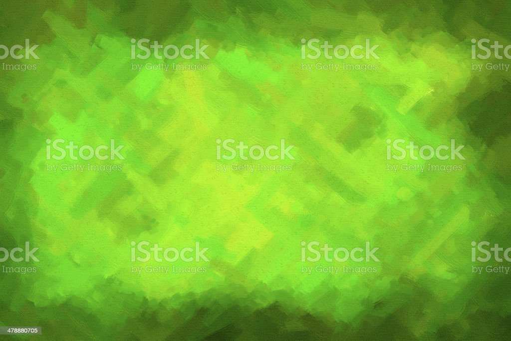 Green abstract paint with dark edges royalty-free stock photo