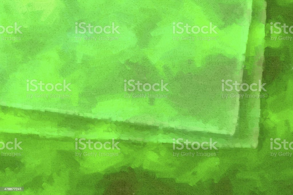 Green abstract paint with rectangles shape royalty-free stock photo