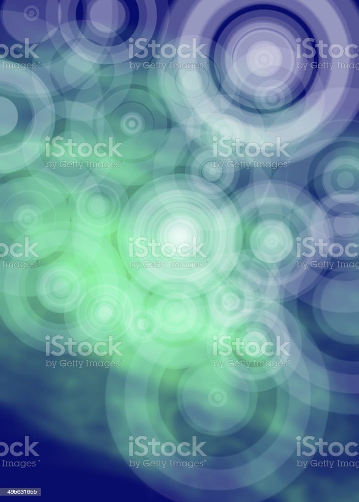 Green abstract shape with circles royalty-free stock photo