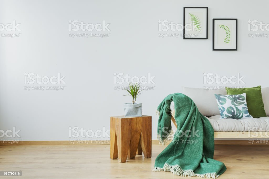 Green accents in the interior stock photo