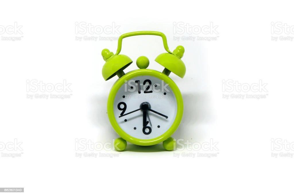 Green Alarm Clock stock photo