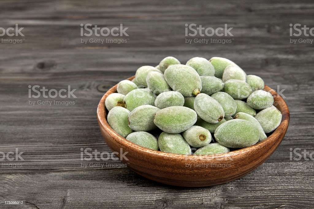 Green almond nuts royalty-free stock photo