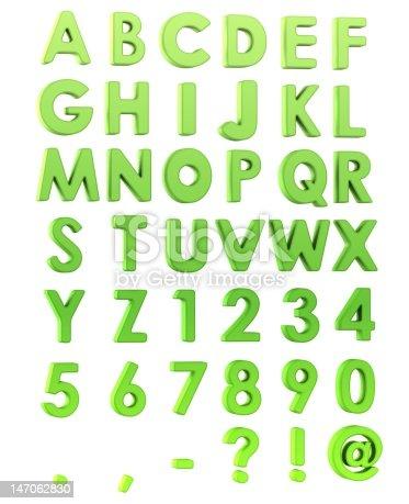 istock Green Alphabet 147062830