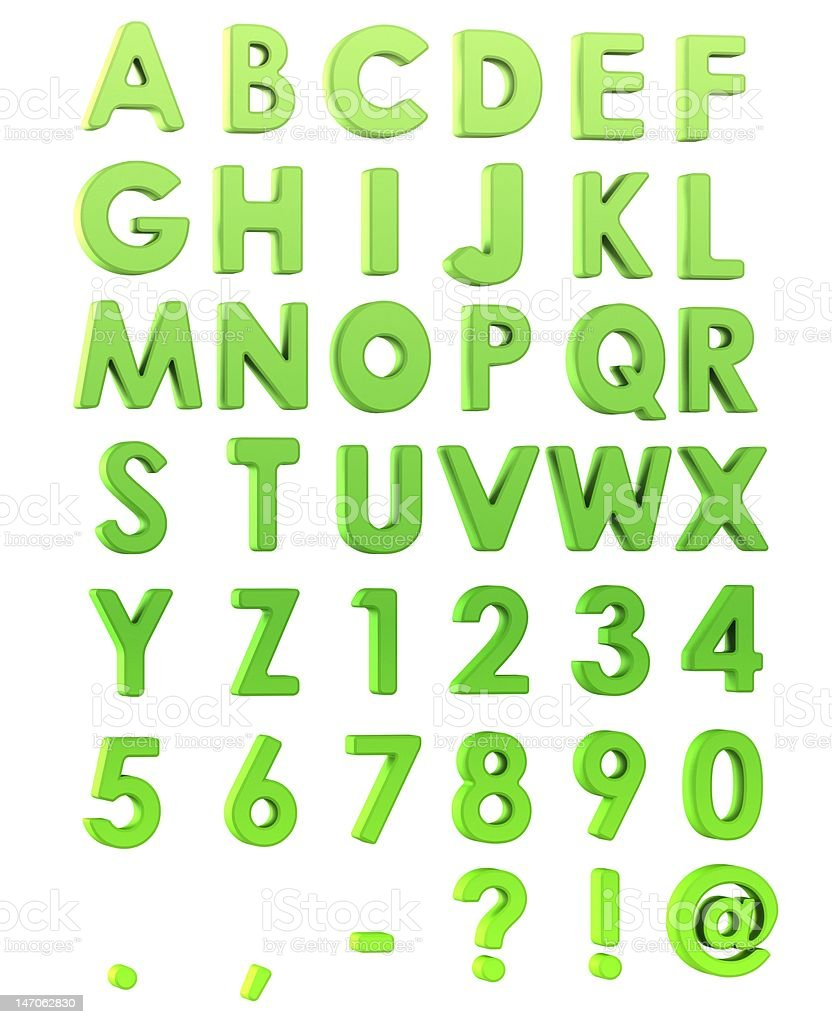 Green Alphabet stock photo