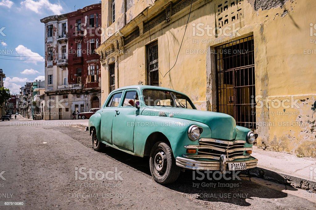 Green American in Havana stock photo