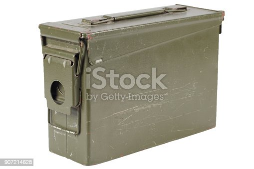 907208642 istock photo Green Ammo Box 907214628