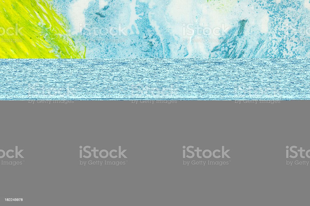 Green and azure abstract background royalty-free stock photo