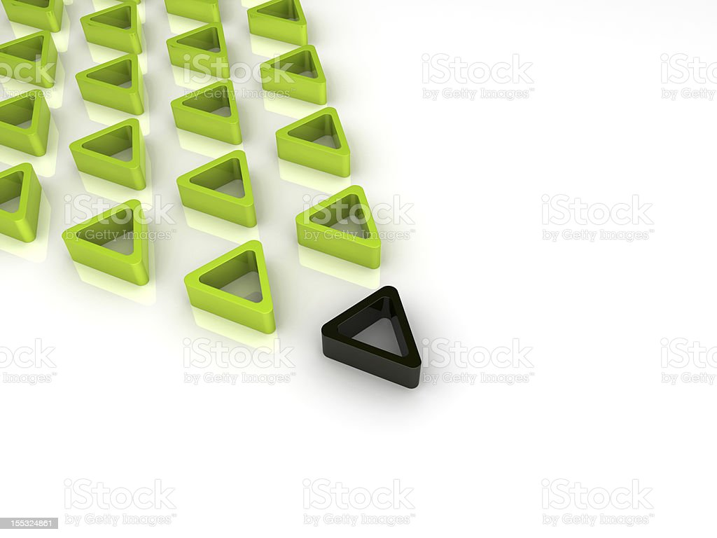 Green and black triangles royalty-free stock photo
