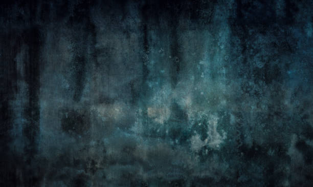 녹색 및 파랑 어두운 질감 - 섬뜩한 뉴스 사진 이미지