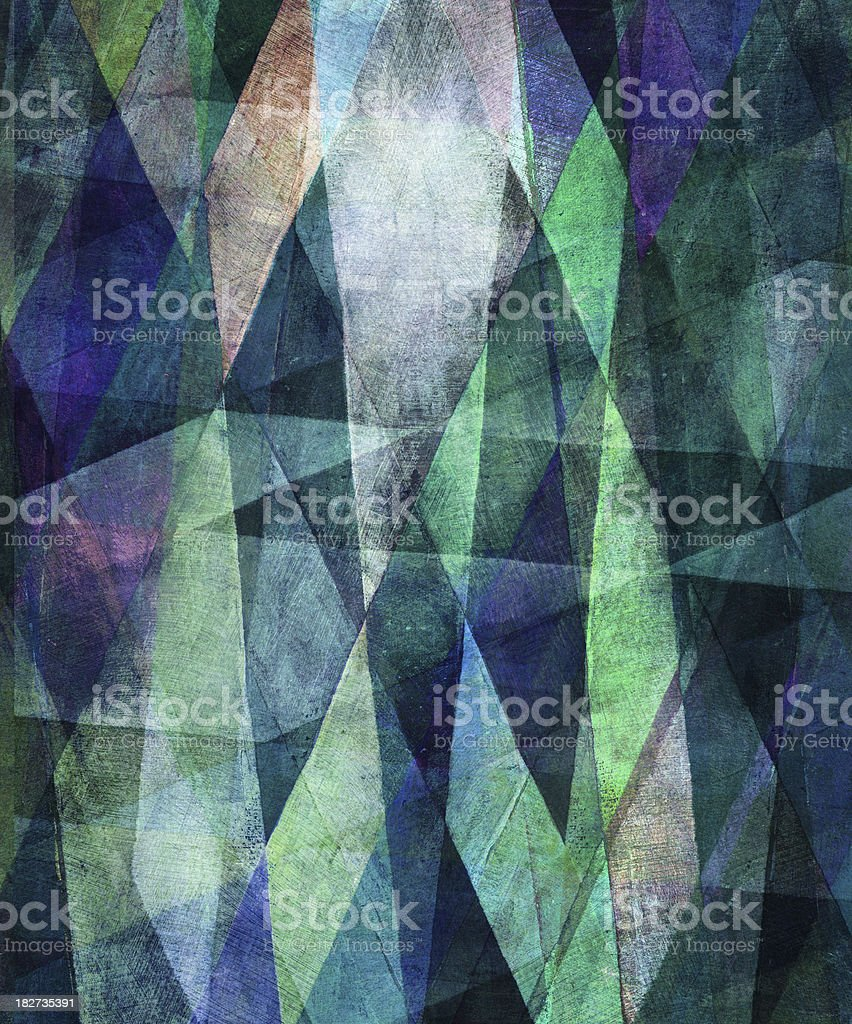 Green and Blue Fractal Painting royalty-free stock photo