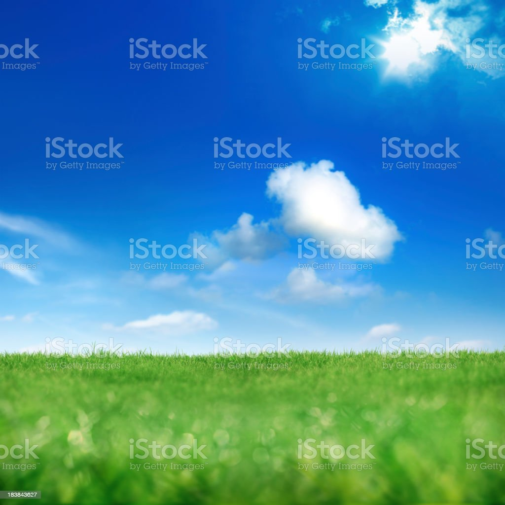 green and blue royalty-free stock photo