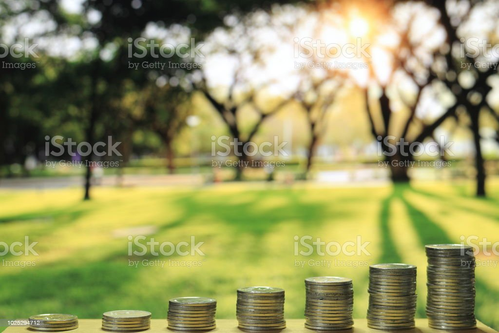Green And Environmental Funding Saving Coin Tower Amount To