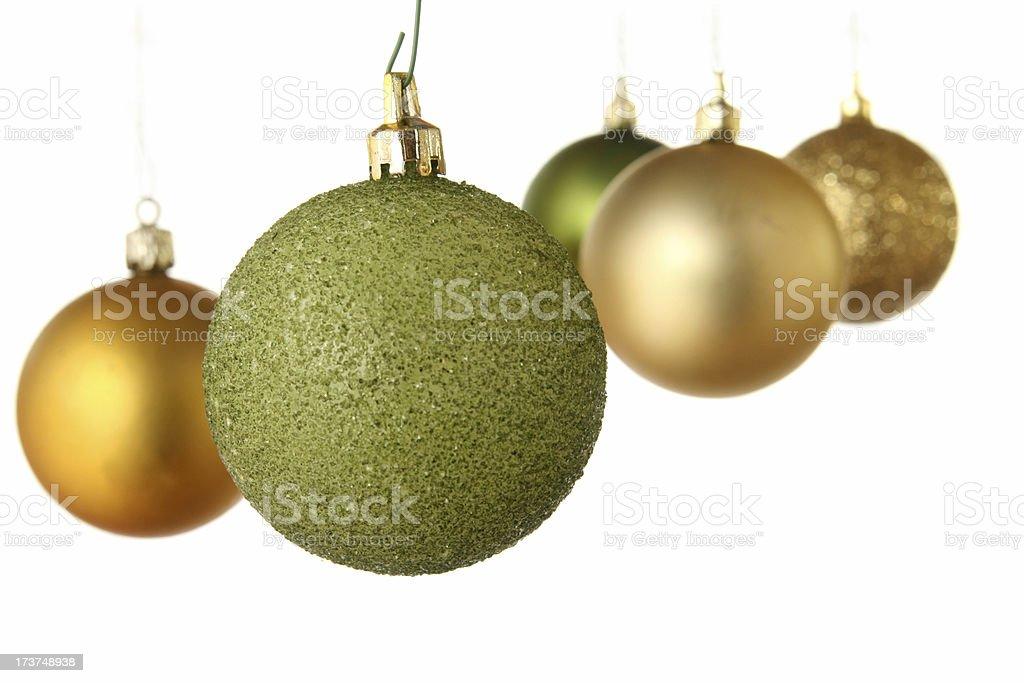 Grün und Gold Weihnachten Weihnachtsschmuck – Foto