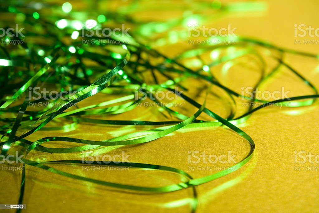 Green and Gold festive background stock photo