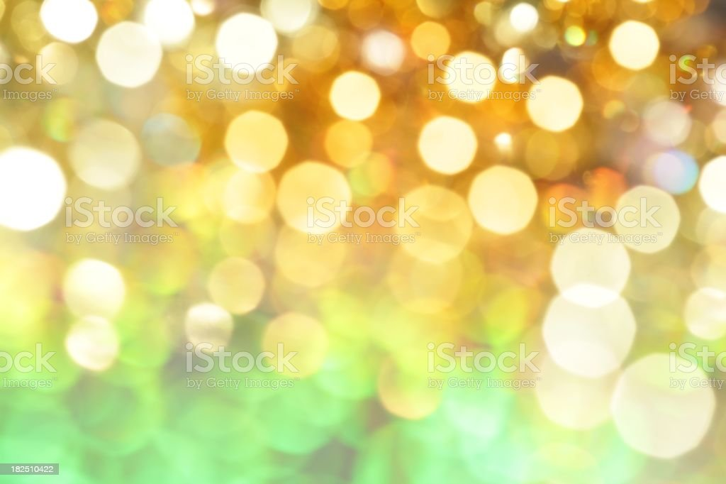 green and gold glitter lights royalty-free stock photo