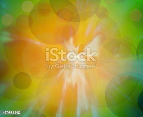 istock Green and orange blur gradient background 472681440