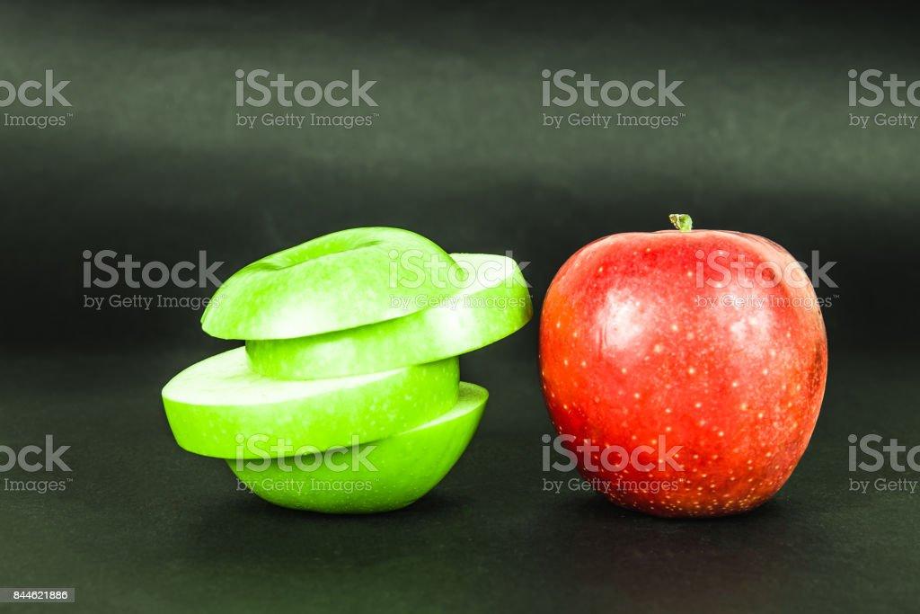 Grüne und rote Apfel – Foto