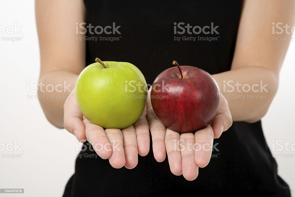 green and red apples royalty-free stock photo