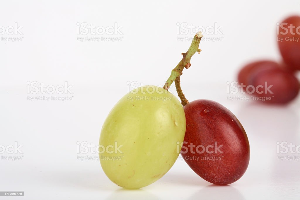 Green and Red grape royalty-free stock photo
