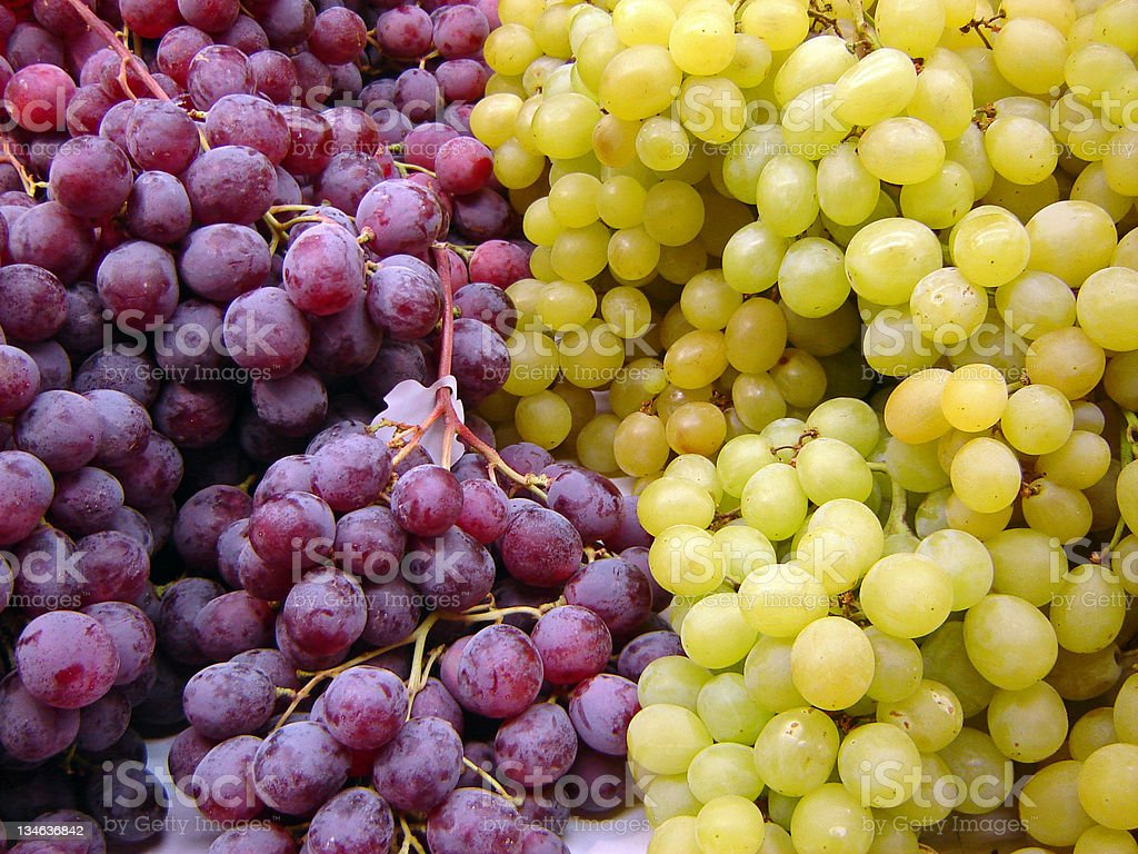 Green and Red Grapes royalty-free stock photo