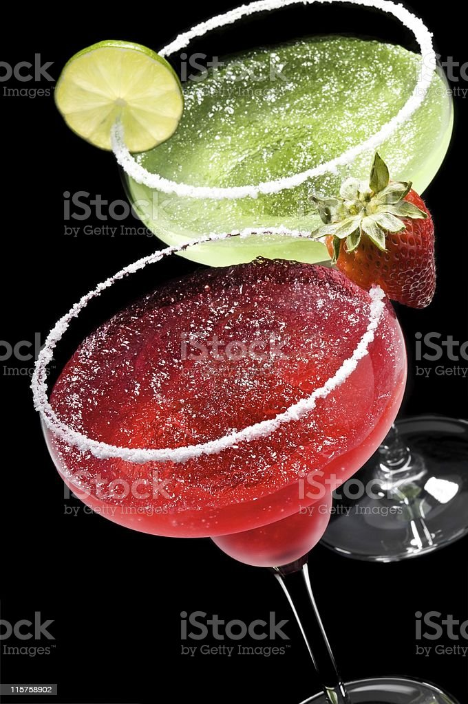 Green and Red Margarita royalty-free stock photo
