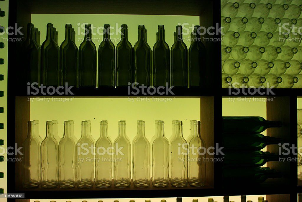 Green and White Bottles royalty-free stock photo
