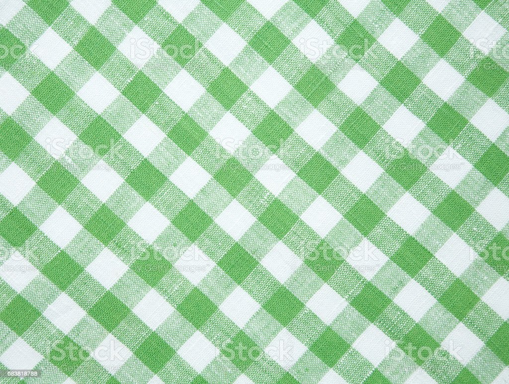 Green And White Checkered Tablecloth Background Stock Photo - Download  Image Now - iStock