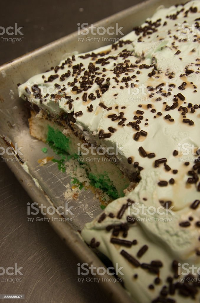 Green And White Marble Cake With Vanilla Frosting Stock Photo Download Image Now Istock