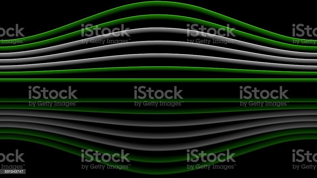 Green and white sinewaves stock photo