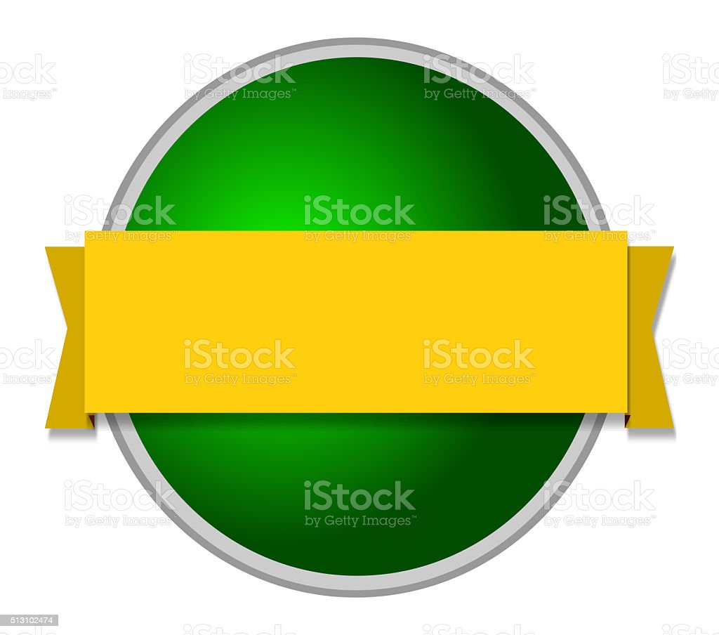 green and yellow Awards rosette stock photo