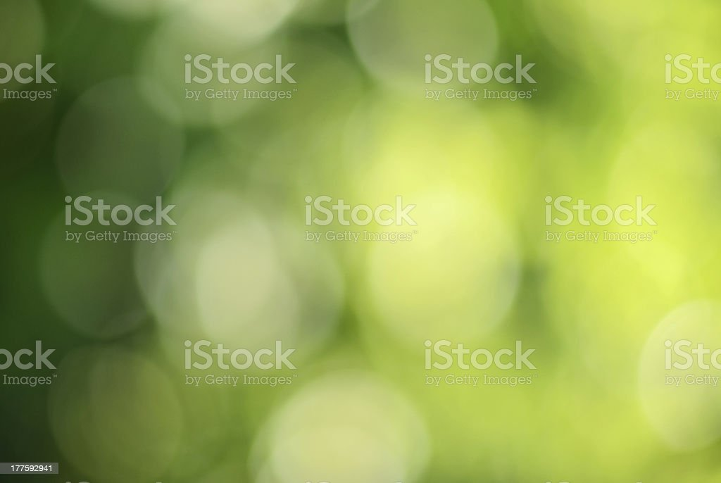 Green and yellow bokeh royalty-free stock photo