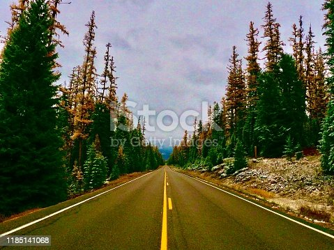 driving in montana, usa