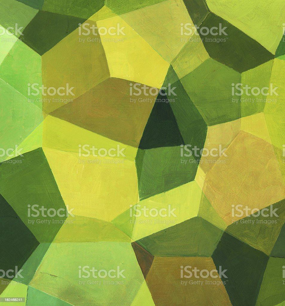 Green and Yellow Painted Pattern royalty-free stock photo