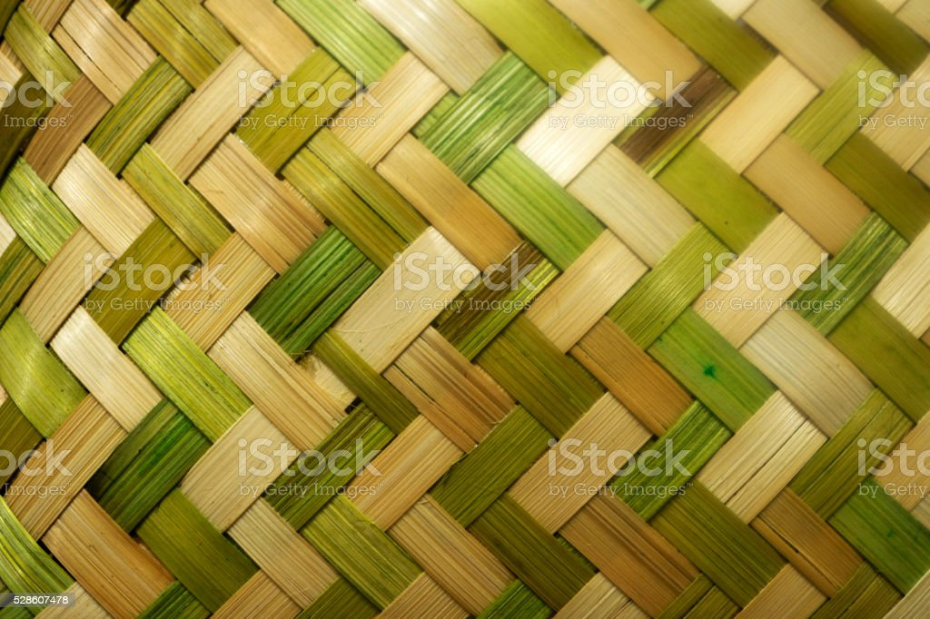 green and yellow wicker weave texture