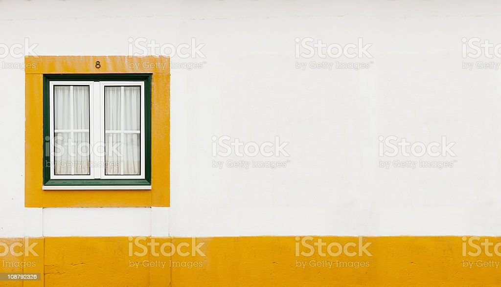 Grünen und gelben Fenster – Foto