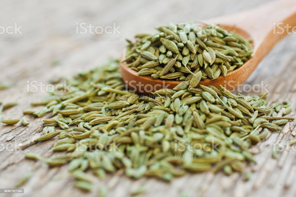 Green anise closeup stock photo