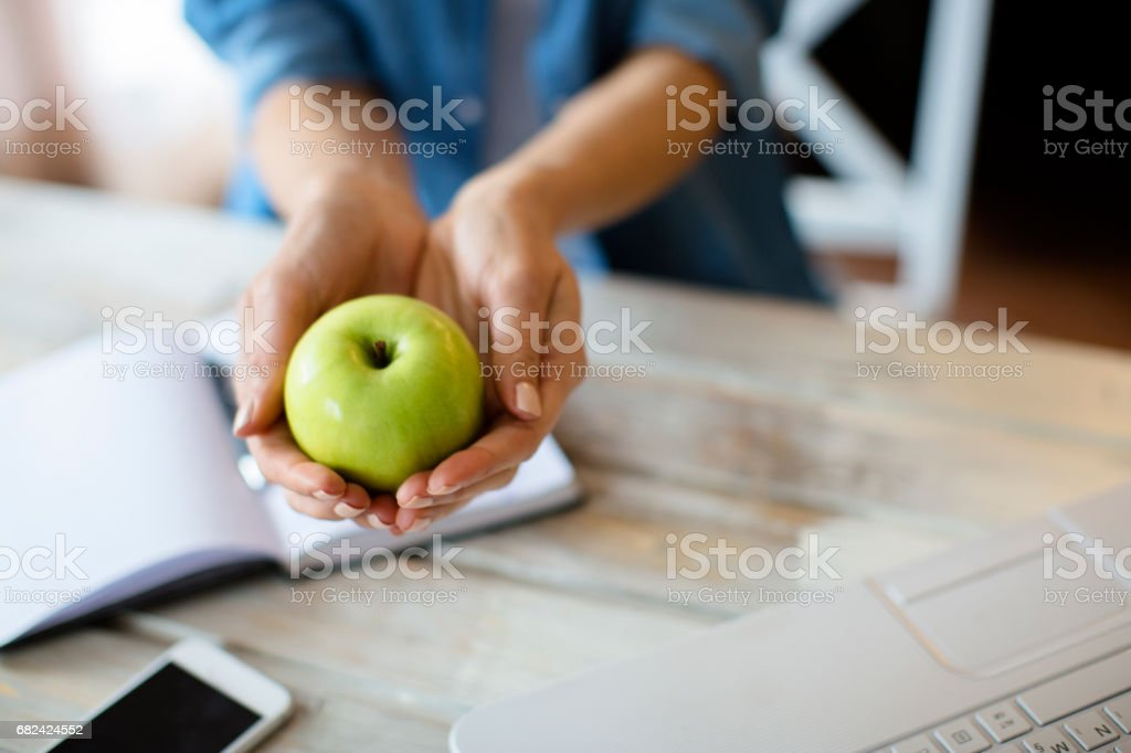 Green apple a day royalty-free stock photo